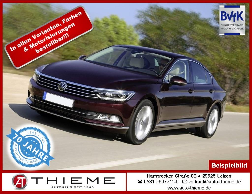 volkswagen passat 1 5 tsi 150 ps dsg comfortline climatronic alu pdc gra auto thieme. Black Bedroom Furniture Sets. Home Design Ideas