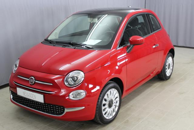 Fiat 500 - Lounge 1,2 8V UVP 18.195€, Uconnect NAVIGATION und DAB , Apple CarPlay/Android, PDC hinten, Kühlergrill Verchromt, Klimaanlage, Glasdach feststehend, 15