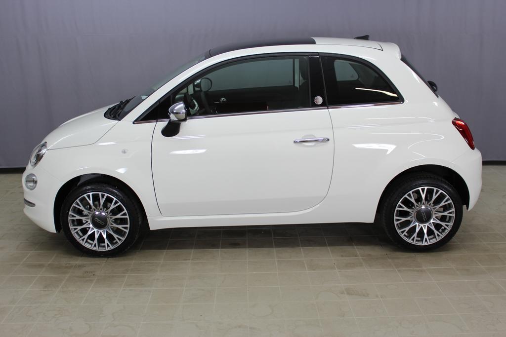 Fiat 500 MirrorMY 18, Gelato Weiß(268), 341 Stoff Schwarz,