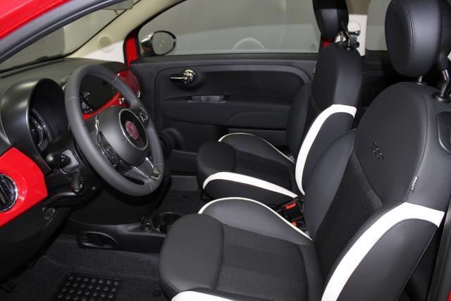 Fiat 500 MirrorMY 18,111 Passione Rot, 341 Stoff Schwarz,