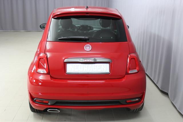 Fiat 500S 1,2 SPORT 69 PS, 111 Passione Rot, 724 Sport Stoff-/Lederfarbe, Ambiente Schwarz, Farbe Türeinsatz Weiß, 06P,140,195,339,396,4GF,4MJ,4VU,5A6,61P,626,6CQ,6HQ,7HZ,856,890,8H7,RSW (1)