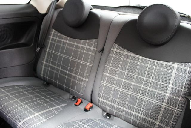 """ES Fiat 500 Lounge, 227 Chiaccio Weiss Dreischicht, 301 Stoff """"Prince of Wales"""" mit Einsätzen aus Vinyl / Schwarz/Grau mit Akzenten in Weiß / Ambiente Schwarz / Farbe Türeinsatz Schwarz, 978841"""