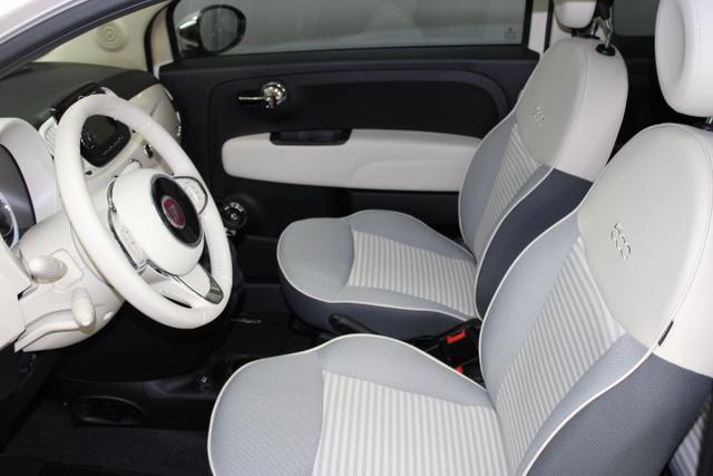 Fiat 500-1.2 8V Collezione 51kW (69PS) E6DTaormina Elfenbein (689)183 Stoff Grau mit Paspeln in Elfenbein