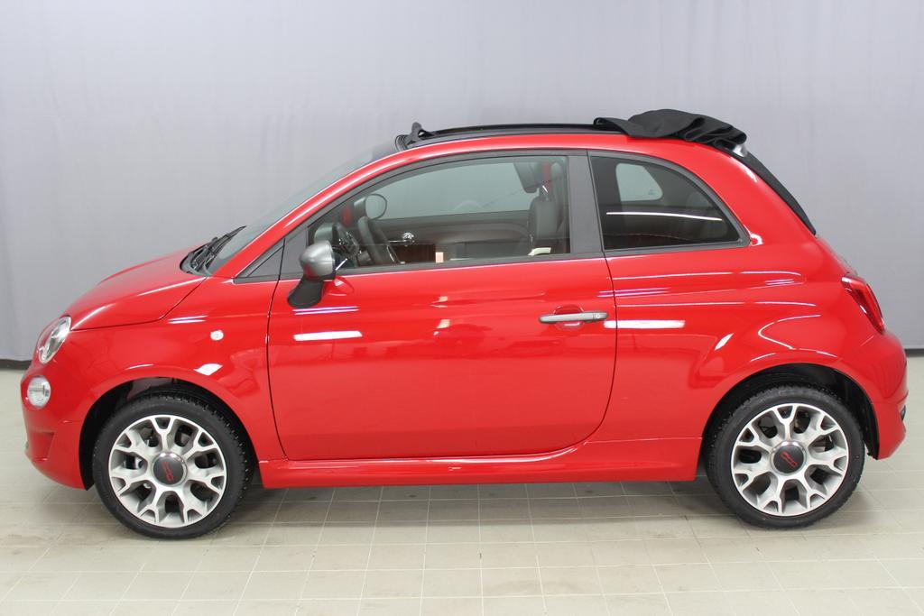 Fiat 500C CABRIO SPORT  AC COC Original - ES ZB und ES Datenblatt AB 6.9.111 Passione Rot Uni - VERDECK SCHWARZ685 Stoff Sport Schwarz/Weiss - Ambiente Schwarz - Türeinsatz Weiss - Verdeck Schwarz06P,140,195,339,396,4GF,4MJ,5A6,5CJ,626,6CQ,6HQ,7HZ,856,8H7,925,RSW