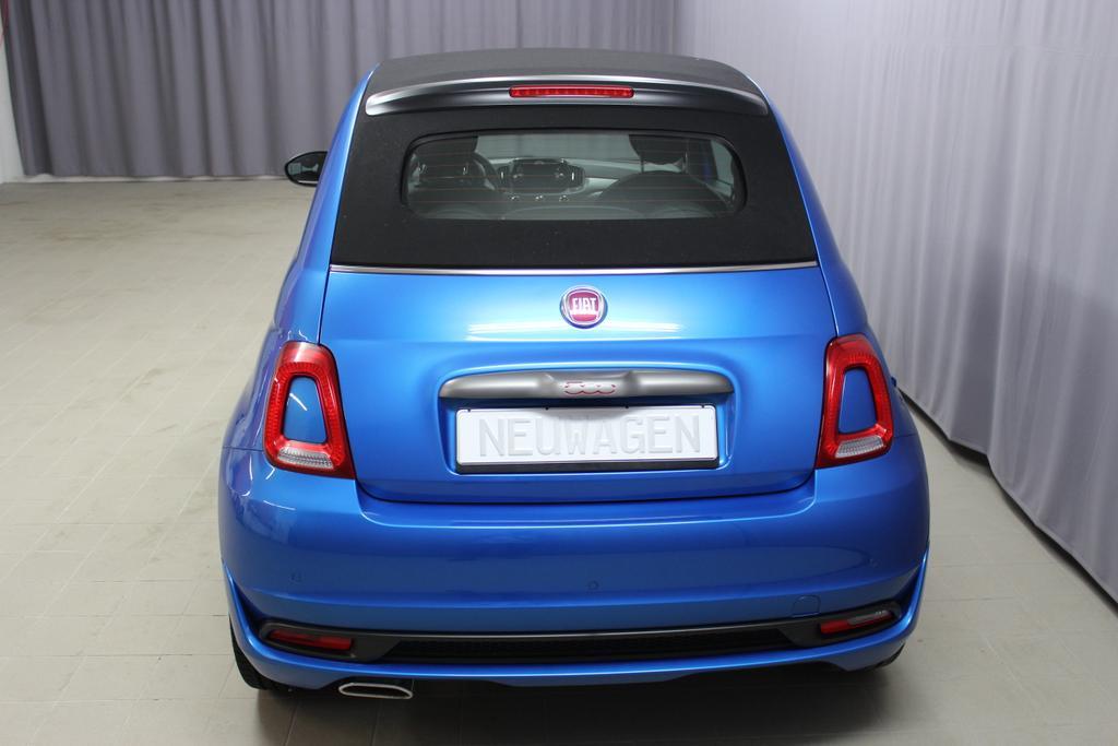Fiat 500C CABRIO SPORT   ACCOC Original - ES ZB und ES Datenblatt AB 6.9.425 Italia Blau Metallic - VERDECK SCHWARZ685 Stoff Sport Schwarz/Weiss - Ambiente Schwarz - Türeinsatz Weiss - Verdeck Schwarz06P,140,195,339,396,4GF,4MJ,5A6,61Q,626,6CQ,6HQ,7HZ,856,8H7,925,RSW