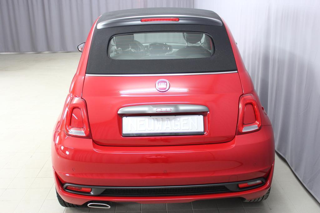 Fiat 500C CABRIO S SPORT 111 Passione Rot Uni685 Stoff Sport - VERDECK Schwarz - Stoff Schwarz/Weiß - Ambiente Schwarz - Farbe Türeinsatz Weiss