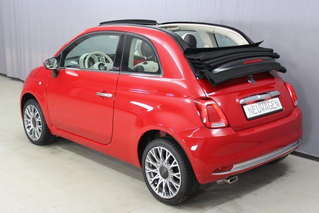 Fiat 500C CABRIO 1,2  LOUNGE  69 PS aACES ZB / COC Original und ES Datenblatt Bank 11 24.9.111 Passione Rot - VERDECK SCHWARZ
