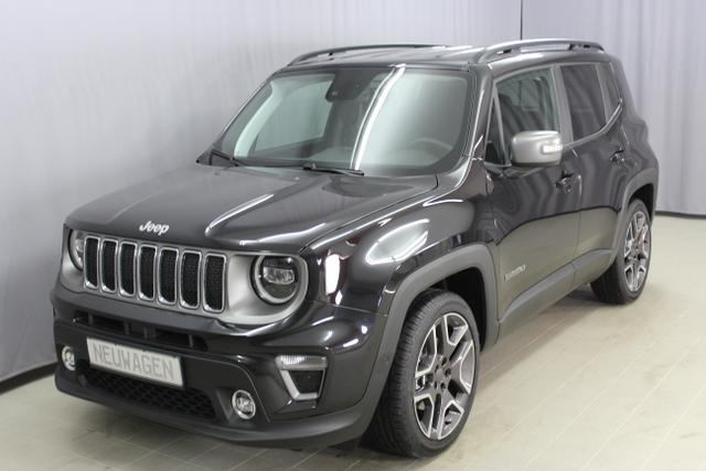 Jeep Renegade - Limited 1,3 DSG Sie sparen 9750 Euro LED-Paket, Navigationssystem sowie digitalem Radio (DAB), Apple CarPlay, Leichtmetallräder 19
