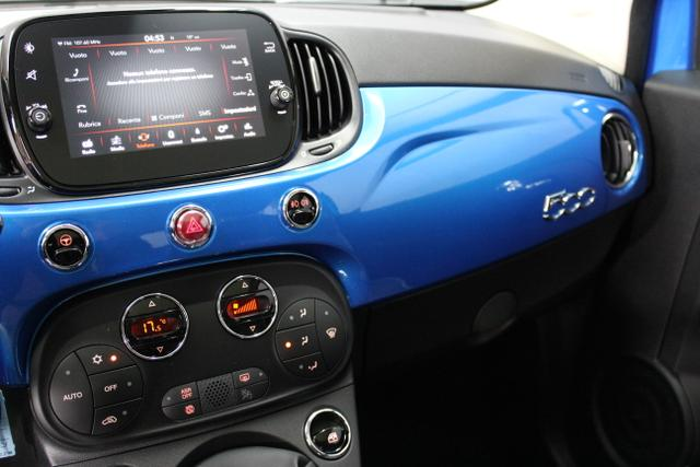 62664 Fiat  500 1,2 8V S&S  Lounge 51kW 69 PSCOC Ori - keine ausländischen Papiere AB 2.11.Euro 6 AG Euro6dtemp425 Italia Blau