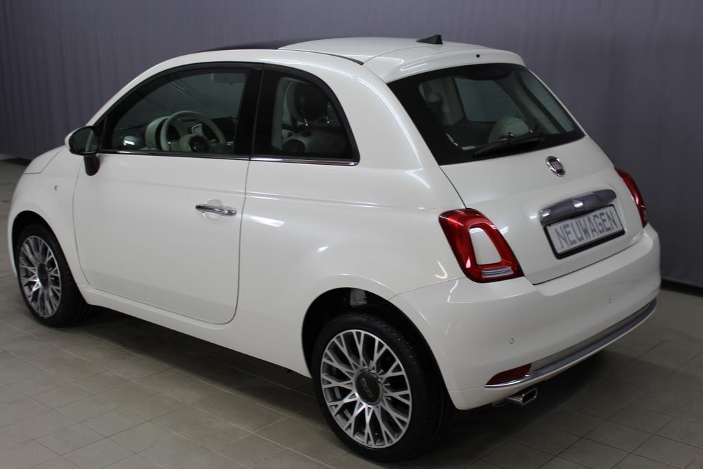 6859 Fiat 500 1,2 8V S&S  Lounge 51kW 69 PSCOC Ori - keine ausländischen Papiere AB 5.11.Euro 6 AG Euro6dtemp227 Ghiaccio Weiß Dreischicht374-Stoff Prince of Wales Schwarz/Weiß mit Akzenten in Elfenbein