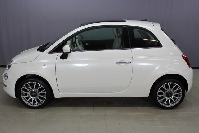 Fiat 500 - Lounge 1,2 8V S&S Klimaautomatik, Connect Plus Paket NAVI DAB Apple Android, City PDC Licht- Regensensor, 16 Zoll Leichtmetallfelgen, Nebelscheinwerfer, Euro 6d-Temp, Instrumentenanzeige als 7 TFT Farbdisplay uvm.