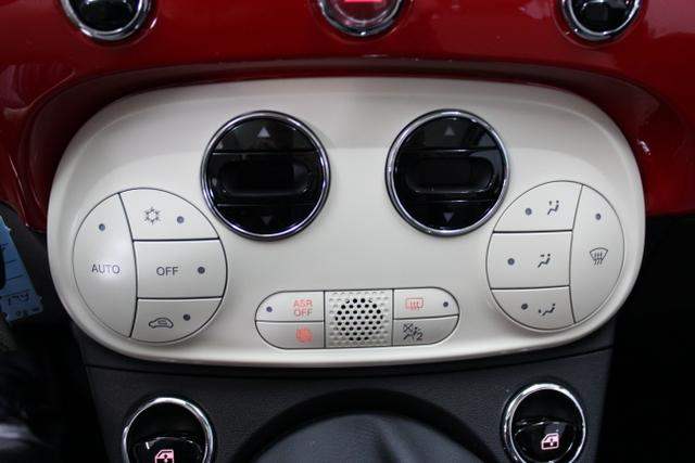 3457 Fiat 500 1,2 8V S&S  Lounge 51kW 69 PSCOC Ori - keine ausländischen Papiere AB 5.11.Euro 6 AG Euro6dtemp111 Passione Rot374-Stoff Prince of Wales Schwarz/Weiß mit Akzenten in Elfenbein