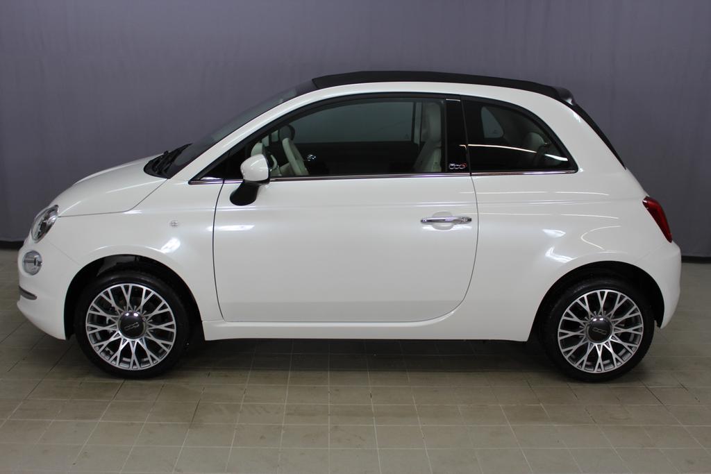 16005 Fiat 500 Cabrio 1,2 8V S&S  Lounge 51kW 69 PSEuro 6 AG Euro6dtemp227 Ghiaccio Weiß Dreischicht