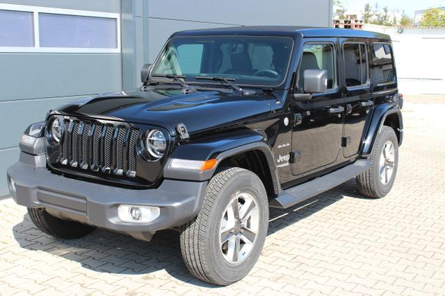 Jeep Wrangler - Unlimited Sahara JL Sie sparen 10640,00 2.0 l T-GD DSG Automatik, Navigation, Keyless Enter-N-Go, Differentiealsperre (mechanisch) Hinterachse, Getönte hintere Scheiben, Sky One-Touch® Power Soft Top uvm.