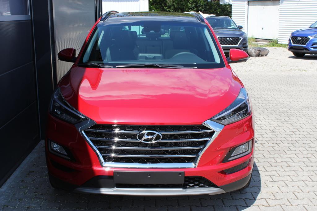 Hyundai Tucson  Premium 1,6 T-GDi 4WD DCT  824q PCS Fiery Red Rot Metallic / Leder schwarz
