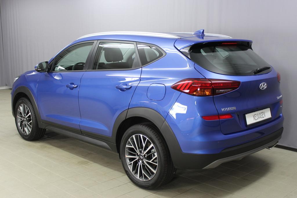 Hyundai Tucson Level 3 1,6 T-GDi 4WD MT 804q Navi Alu18 Shh Champion Blue / Stoff Schwarz