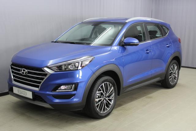 Lagerfahrzeug Hyundai Tucson - Trend 1.6 T-GDI 4WD 18'' Aluminiumfelgen, Navigationssystem inkl. Rückfahrkamera / DAB-Radio, Apple CarPlay & Android Auto, Klimaautomatik, Sitzheizuung vorne u. hinten, Einparksensoren hinten uvm.