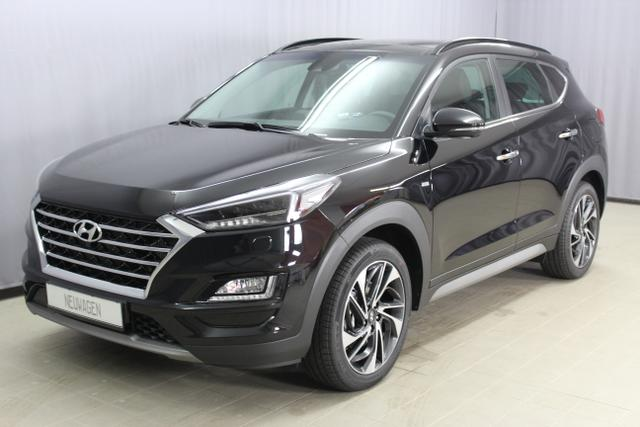 Lagerfahrzeug Hyundai Tucson - Premium 1,6 T-GDi 4WD DCT, UVP 43.890.- euro, Abstandsregeltempomat, Fernlichtassistent, Digitales Radio, Navigationssystem, Panorama Glas-/Hubschiebedach Voll-Leder uvm.