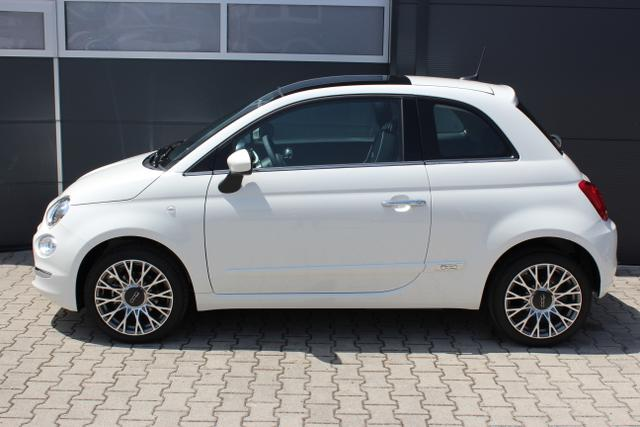 Fiat 500 - Lounge 1,2 8V Uconnect NAVIGATION und DAB+, Apple CarPlay/Android, PDC hinten, Kühlergrill Verchromt, Klimaautomatik, Glasdach feststehend, 16