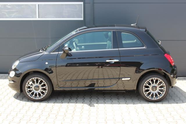 """FIAT 500 1.2 8v City 876 Schwarz;  Schwarz / Farbe Türeinsatz Schwarz, Schwarz/ Grau mit Akzenten in Weiß. Stoff """"Prince of Wales"""" mit Einsätzen aus Vinyl"""