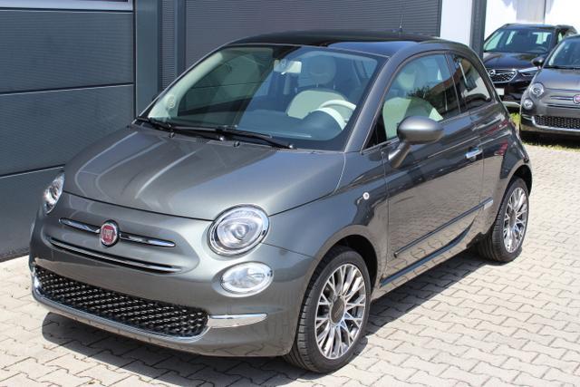 """Lagerfahrzeug Fiat 500 - Lounge 1,2 8V Uconnect NAVIGATION und DAB , Apple CarPlay/Android, PDC hinten, Kühlergrill Verchromt, Klimaautomatik, Glasdach feststehend, 16""""-Leichtmetallfelgen uvm."""