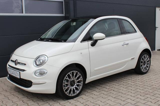 Fiat 500 - Lounge 1,2 8V Uconnect 7'', DAB+, Apple CarPlay/Android, PDC hinten, Kühlergrill Verchromt, Klimaautomatik, Glasdach feststehend, 16