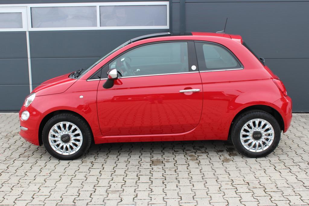 Fiat 500-1.2 8V Mirror MY18 51kW (69PS)111 Passione Rot341 Stoff Schwarz, 041 Beheizbare Außenspiegel 06P City Paket 140 Klimaautomatik Mit Pollenfilter                               74B 15