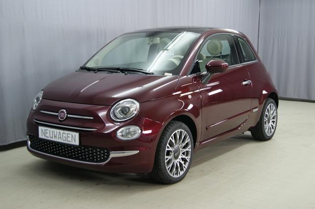 """Lagerfahrzeug Fiat 500 - Lounge 1,2 8V UVP 18.290.- Euro, Uconnect 5'', PDC hinten, Klimaautomatik, Notrad, Glasdach feststehend, 16""""-Leichtmetallfelgen uvm."""
