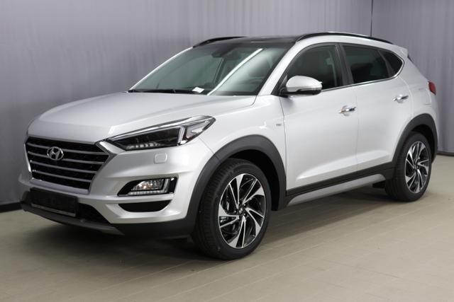 Hyundai Tucson - Premium Sie sparen 12.910,- 2.0 CRDi 4WD 48V AT Hybrid (Diesel / Elektro) Abstandsregeltempomat, Fernlichtassistent, Digitales Radio, Navigationssystem, Panorama Glas-/Hubschiebedach Voll-Leder uvm.