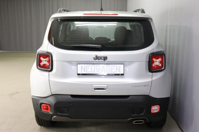 JEEP Renegade 1,3 GSE T4 150 PS Limited 2 WD DCT Automatikgetriebe 6 Gang / 348 Glacier 	SILBER METALLIC 074 Stoff Premium Schwarz