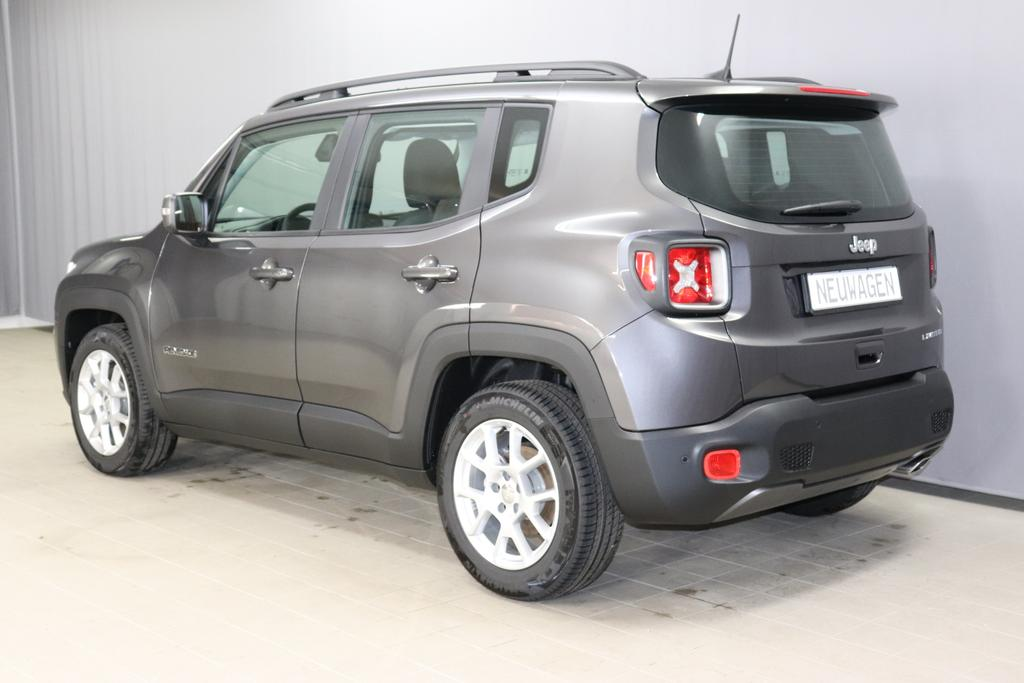 Jeep Renegade 1,3 GSE T4 150 PS Limited 2 WD DCT Automatikgetriebe 6 Gang, 095 Granite Crystal	074 Stoff Premium Schwarz