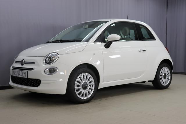"Lagerfahrzeug Fiat 500 - Lounge UVP 18.080,00 Euro 1,2 Serie7, Modell 2020, Uconnect Radio mit 7""-HD-Touchscreen, Apple Car Play, Klimaautomatik, 15""-Leichtmetallfelgen, Notrad, Parksensoren hinten uvm."