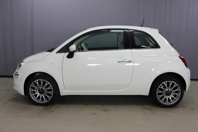 """Fiat 500 Lounge Sie sparen 7.490 Euro 1,2 Serie7, Modell 2020, Garantie: 5 Jahre, Uconnect Radio mit 7""""-HD-Touchscreen, Apple Car Play, Klimaautomatik, 16""""-Leichtmetallfelgen, Notrad, Parksensoren hinten uvm."""