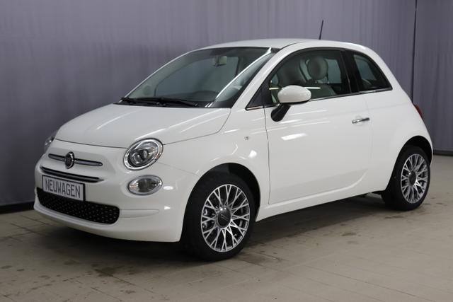 "Lagerfahrzeug Fiat 500 - Lounge UVP 19.080,0 Euro 1,2 Serie7, Modell 2020, Uconnect Radio mit 7""-HD-Touchscreen, Apple Car Play, Klimaautomatik, 16""-Leichtmetallfelgen, Notrad, Parksensoren hinten uvm."