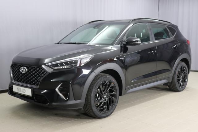Hyundai Tucson - N-LINE Sie sparen 9.650,00€ 1,6 T-GDi 2WD MT Navigationssystem, Rückfahrkamera, Sitzheizung, 19 Zoll Leichtmetallfelgen, Leder Sportsitze
