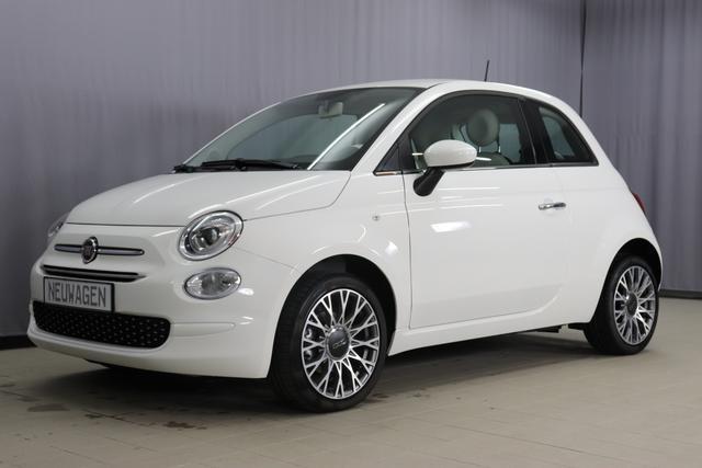 "Lagerfahrzeug Fiat 500 - Lounge UVP 19.080,00 Euro 1,2 Serie7, Modell 2020, Uconnect Radio mit 7""-HD-Touchscreen, Apple Car Play, Klimaautomatik, 16""-Leichtmetallfelgen, Notrad, Parksensoren hinten uvm."