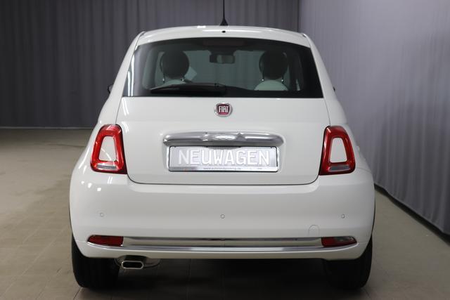 """Fiat 500 1,2 8V S&S Star 51kW 69 PS268 Weiß""""138 Stoff """"Star"""" mit Einsätzen aus Vinyl Schwarz mit Einsatz Weiß Ambiente schwarz Farbe Türeinsatz schwarz Farbe Armaturenbrett Perla Sandweiß"""""""