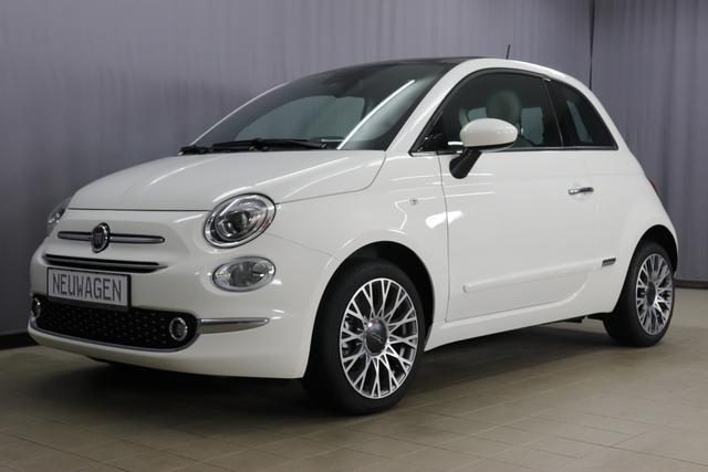 Fiat 500 - Star Sie sparen 7.205 Euro 1,2 Modell 2020, Glasdach, Uconnect Navi, DAB, Apple Android, 7 Zoll TFT Display, 16 Alu, City Paket, Parksensoren, Licht- und Regensensor, Klimaautomatik, Nebelscheinwerfer, uvm.