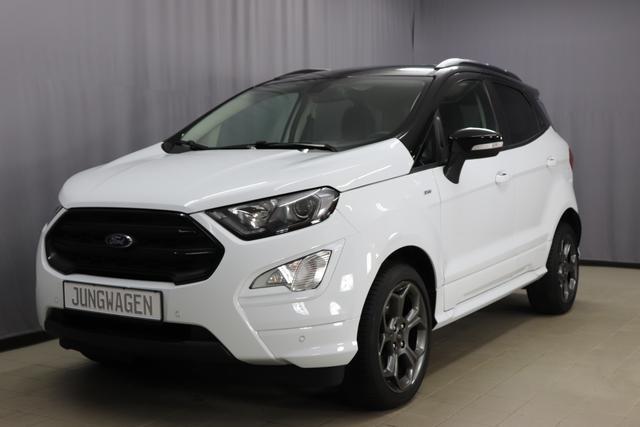 Ford EcoSport - ST-Line 1.0 Eco Boost, Automatik mit Schaltwippen am Lenkrad, Navigationssystem, Sitzheizung, Lichtsensor, Einparkhilfe vorne und hinten, Panoramadach, LED Tagfahrlicht, Lenkradheizung, 17 Zoll Alu uvm.