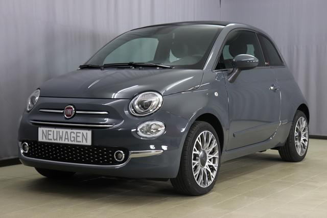 Fiat 500C Hybrid - Star Sie sparen 6765 Euro 1,0 GSE Verdeck Schwarz, Navigatiionsysten DAB+, 7 Zoll TFT Display, Lederschaltknauf, Stop&Start Apple Android, , Einparkhilfe hinten, Nebelscheinwerfer, Regensensor u. Lichtsensor, 16 Leichtmetallfelgen, Klimaauto