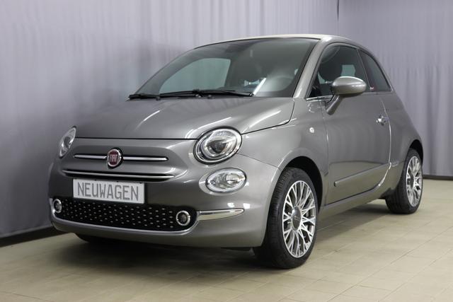 Fiat 500C - Star Sie sparen 6765 Euro 1,0 GSE Verdeck Elfenbein, Navigatiionsysten DAB+, 7 Zoll TFT Display, Lederschaltknauf, Stop&Start Apple Android, , Einparkhilfe hinten, Nebelscheinwerfer, Regensensor u. Lichtsensor, PDC 16 Leichtmetallfelgen, Klimaauto