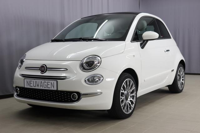Fiat 500C - Star Sie sparen 6765 Euro 1,0 GSE Verdeck Schwarz, Navigatiionsysten DAB+, 7 Zoll TFT Display, Lederschaltknauf, Stop&Start Apple Android, , Einparkhilfe hinten, Nebelscheinwerfer, Regensensor u. Lichtsensor, PDC 16 Leichtmetallfelgen, Klimaauto
