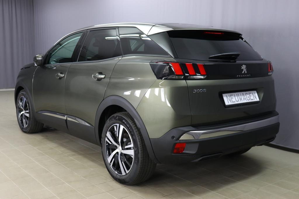 Peugeot 3008 Allure PureTech 130 EAT8 AutomatikM0KL Amazonite Grey48FX Piedimonte (tumma nahka/kangas)
