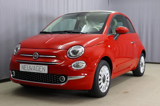 Fiat 500C - Lounge Sie sparen 6.000,00 Euro 1.0 GSE HYBRID (70PS) Serie8, Verdeck Elfenbein, CITY PAKET: Parksensoren hinten, Licht- und Regensensor, Klimaanlage, Nebelscheinwerfer, Notrad, Seitenschutzleisten, lackiert mit Emblem