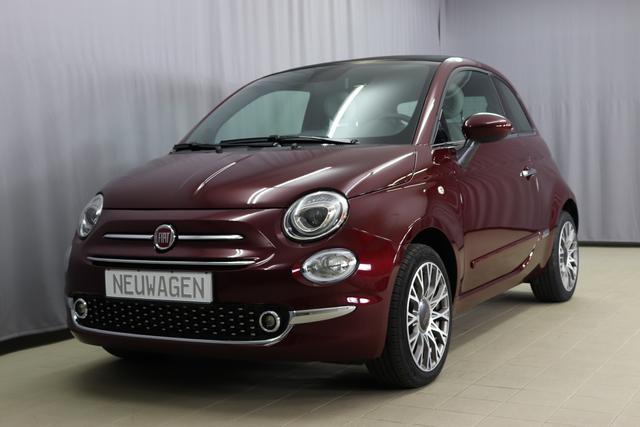 Fiat 500C Hybrid - Star Sie sparen 6765 Euro 1,0 GSE Verdeck Schwarz, Navigatiionsysten DAB+, 7 Zoll TFT Display, Lederschaltknauf, Stop&Start Apple Android, , Einparkhilfe hinten, Nebelscheinwerfer, Regensensor u. Lichtsensor, PDC 16 Leichtmetallfelgen, Klimaauto