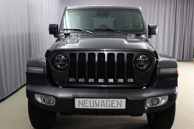 """Jeep Wrangler Unlimited MY 2020 Sahara 2,0 T 200 kW 272 PS Automatikgetriebe DSG Automatik 4 WD 4 türig HT3 Freedom Hardtop in Wagenfarbe"" bez. 3.7. PAU Granite Crystal 1CL Leder Schwarz ""0MF MY 2020 OZT Sicherheitspaket Geschwindigkeitsregelanlage adaptiv ( Adaptive Cruise Control ) Auffahrwarnsystem ( Forward Collision Warning Plus ) 211 JPM Sitzbezüge in Leder mit Sitzheizung vorne AAN Technoloigie Paket Totwinkel Assistent mit hinterer Querbewegungserkennung Keyless Enter N Go ( schlüsselloses öffnen und verriegeln ) AD6 LED Paket ( Serie ) AWS Raucherkit GCD Privacy Glass UGQ Uconnect Smartouch 8,4 Touchscreen 3 D Navigation Bluetooth, AUX IN, USB und DAB RC4 Alpine Premium Sound System ( Serie )"""