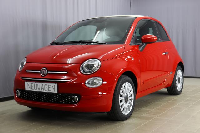 Fiat 500C Hybrid - Lounge Sie sparen 6.050,00 Euro 1.0 GSE (70PS) Serie8, Verdeck Elfenbein, CITY PAKET: Parksensoren hinten, Licht- und Regensensor, Klimaautomatik, Nebelscheinwerfer, Notrad, Seitenschutzleisten, lackiert mit Emblem