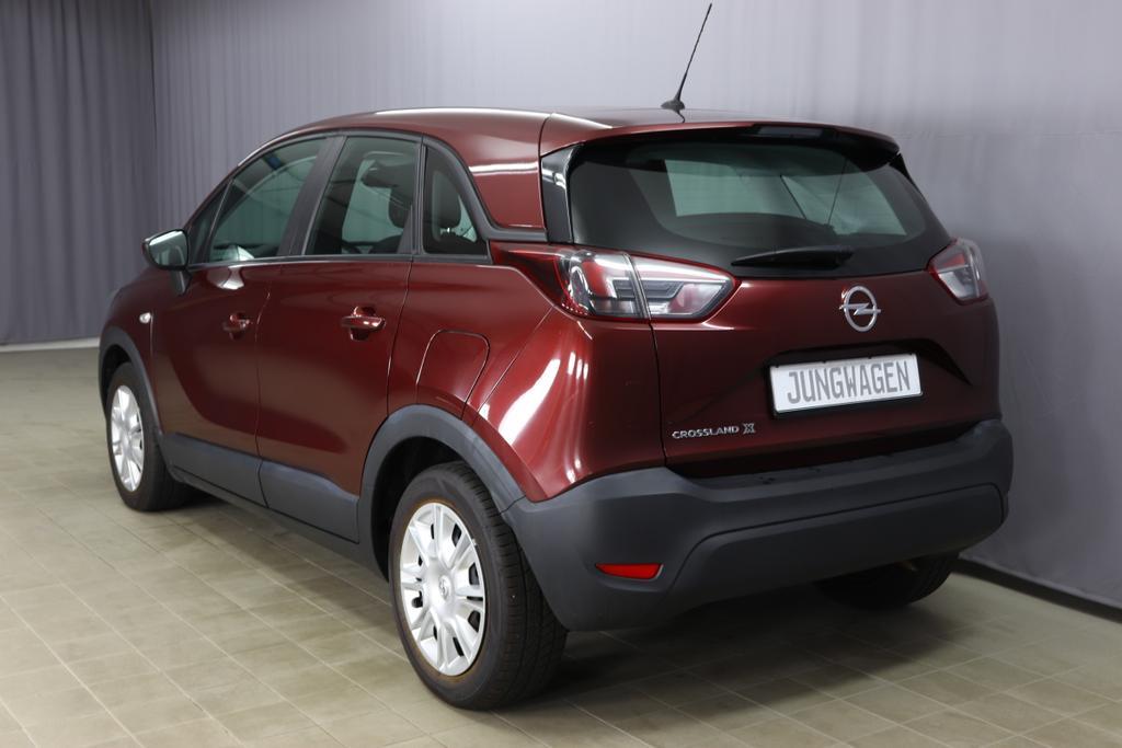 Opel Crossland X/ 1.2 Enjoy/ 1,2 Benzin/ 5-Gang SchaltgetriebeBenzin/ 61kW   83PS5-Gang SchalterRouge Brown MetallicStoff anthrazit
