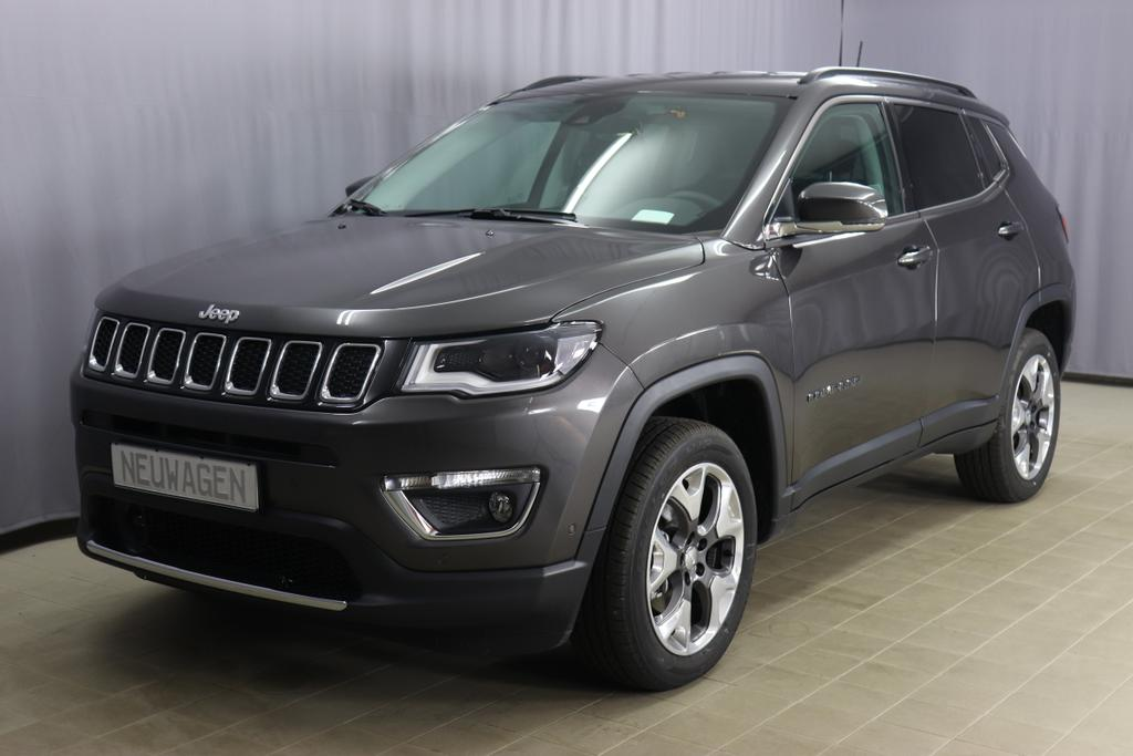 JEEP Compass Limited 1.4 125KW 170PS 9-Stufen-Automatikgetriebe MAir ATXPAU 5CC Granite Crystal Met. Clear Coat	(211) 1AL Voll-Leder