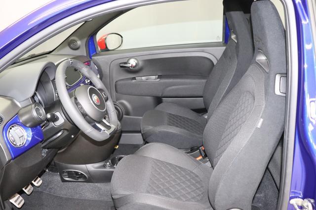 """""""Abarth 595 MY19-1.4 T-Jet 107 KW (145PS) MY19 """"369 Podio Blau Integral Sportsitze Stoff Schwarz ohne Aufpreis Kaufvertrag bitte auf Neuwagen Autoland Oberbayern !!!! """"7QC UconnectTM HD-NAV mit Europakarte und Radio mit 7"""""""" Touchscreen, AUX-IN, USB, Bluetooth®, DAB und UconnectTM LIVE1 8EW Apple Carplay / Android Auto 4AY 17""""""""Leichtmetallfelgen Design """"Touring"""" 10-Y-Speichen Finish Silber 5HM Kit Estetico weiss 025 Klimaanlage 097 Nebelscheinwerfer"""""""